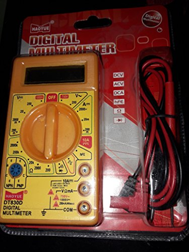 DT830D Small Digital Multimeter, Yellow Color