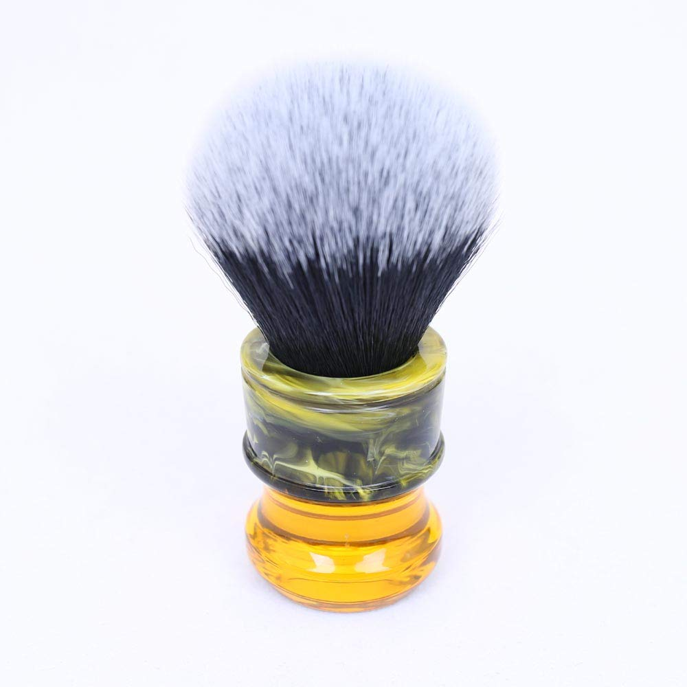 Sagrada Familia 24mm Shaving brush by Yaqi | Synthetic Mew Brown Hair Knot with Durable Resin Handle | Get a Barber Quality Lather Each Time | R1730 Yaqi Brush