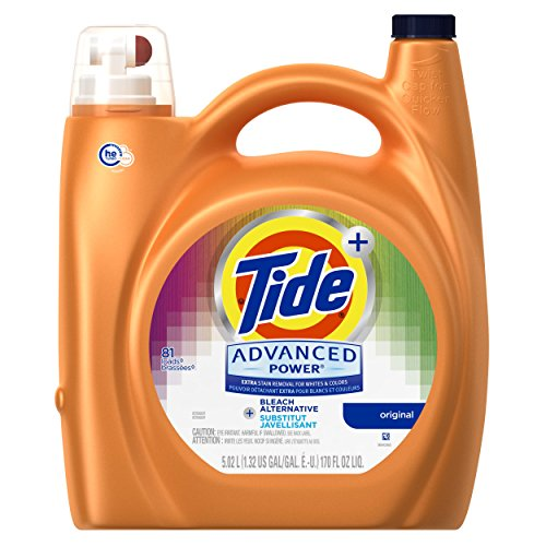 Tide Advanced Power Plus Bleach Alternative Liquid Laundry Detergent, HE Turbo Clean, 170 oz, 81 loads - Bleach Liquid Laundry Detergent