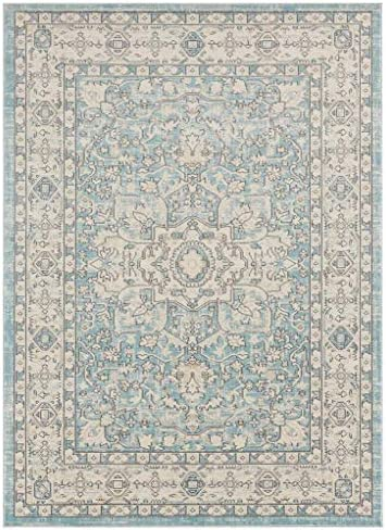 Luxe Weavers Kingsbury Collection Oriental 8×10 Blue Traditional Area Rug