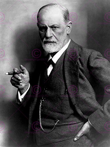 Vintage Photography Portrait Psychoanalyst Sigmund Freud Cigar Poster Art Print by Vivo