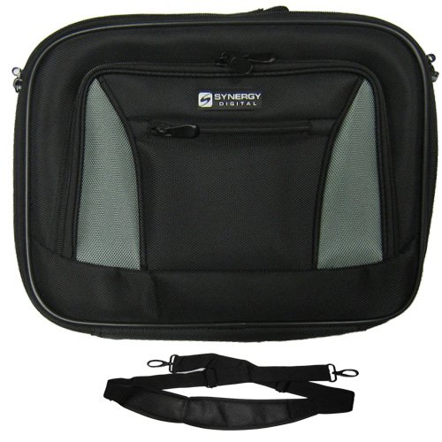 HP ProBook 4530s Laptop Case Carry Handle & Adjustable Shoulder Strap - Black/Gray - Adjustable & Removable Interior Dividers