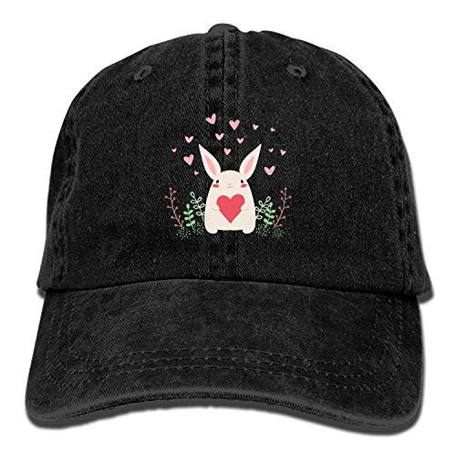 Cute Rabbit Love Hearts Vintage Adjustable Jean Cap Gym Caps for - Skull Road Cap River