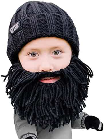 b05314e7c77 Beard Head Kid Vagabond Beard Beanie - Knit Hat w Fake Beard for Kids  Toddlers