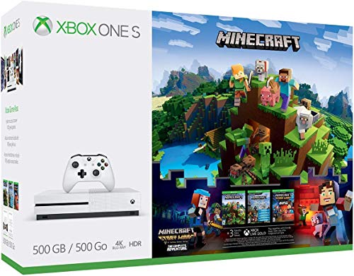 Xbox One S 500GB Console – Minecraft Complete Adventure Bundle [Discontinued] (Renewed)