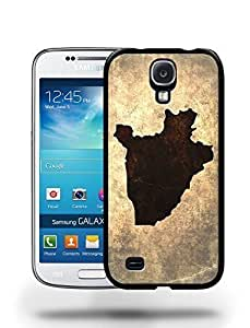 Burundi National Vintage Country Landscape Atlas Map Phone Case Cover Designs for Samsung Galaxy S4