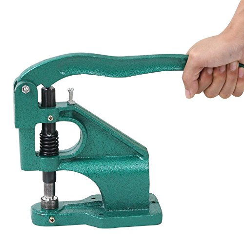 Yaheetech 3 Die Heavy Duty Grommet Machine & 1500 Pcs Silver Grommets Hand Press Eyelet Punch Tool