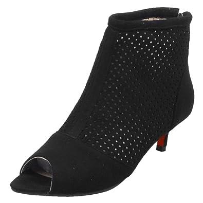 59d9806eba2 RAZAMAZA Women Peep Toe Western Ankle Booties - Kitten Heel Cutout Ankle  Sandals (34 EU