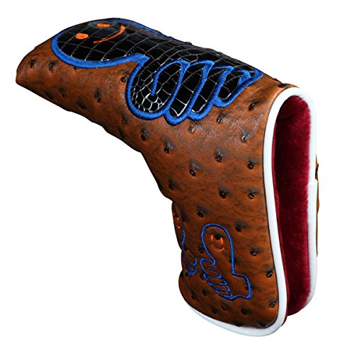Sword &Shield sports Golf Putter Cover Thumb Headcover Synthetic Leather Magnetic Closure for Scotty Cameron Odyssey Blade Taylormade Titleist Ping (Brown)