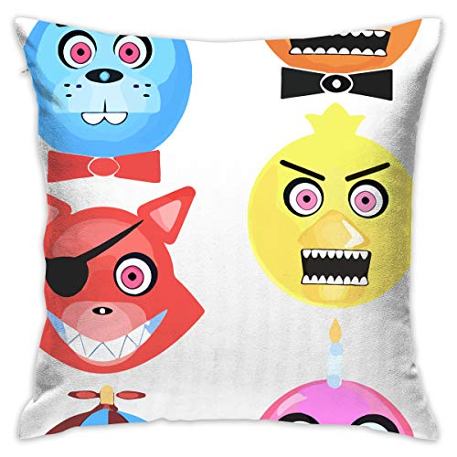 (Reneealsip 16.5-Inch Five Nights at Freddy's Freddy Fazbear Glow in The Dark Throw Pillow for Home Decor Square Decorative Pillow)