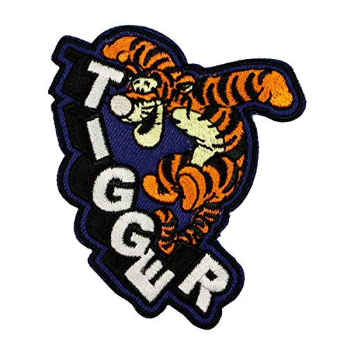 Disney Tigger Bounce Patch Winnie The Pooh Cartoon Embroidered Iron On Applique