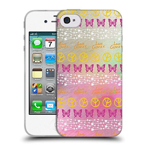 Official Cosmopolitan Parallel Boho Soft Gel Case for Apple iPhone 4 / 4S
