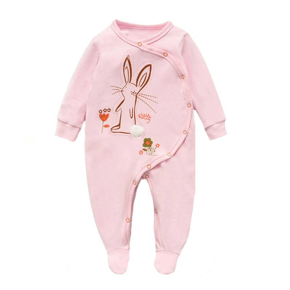 Fairy Baby Baby Girls Boys Footed Cotton Pajamas Animal Sleepsuit 0-18 Month