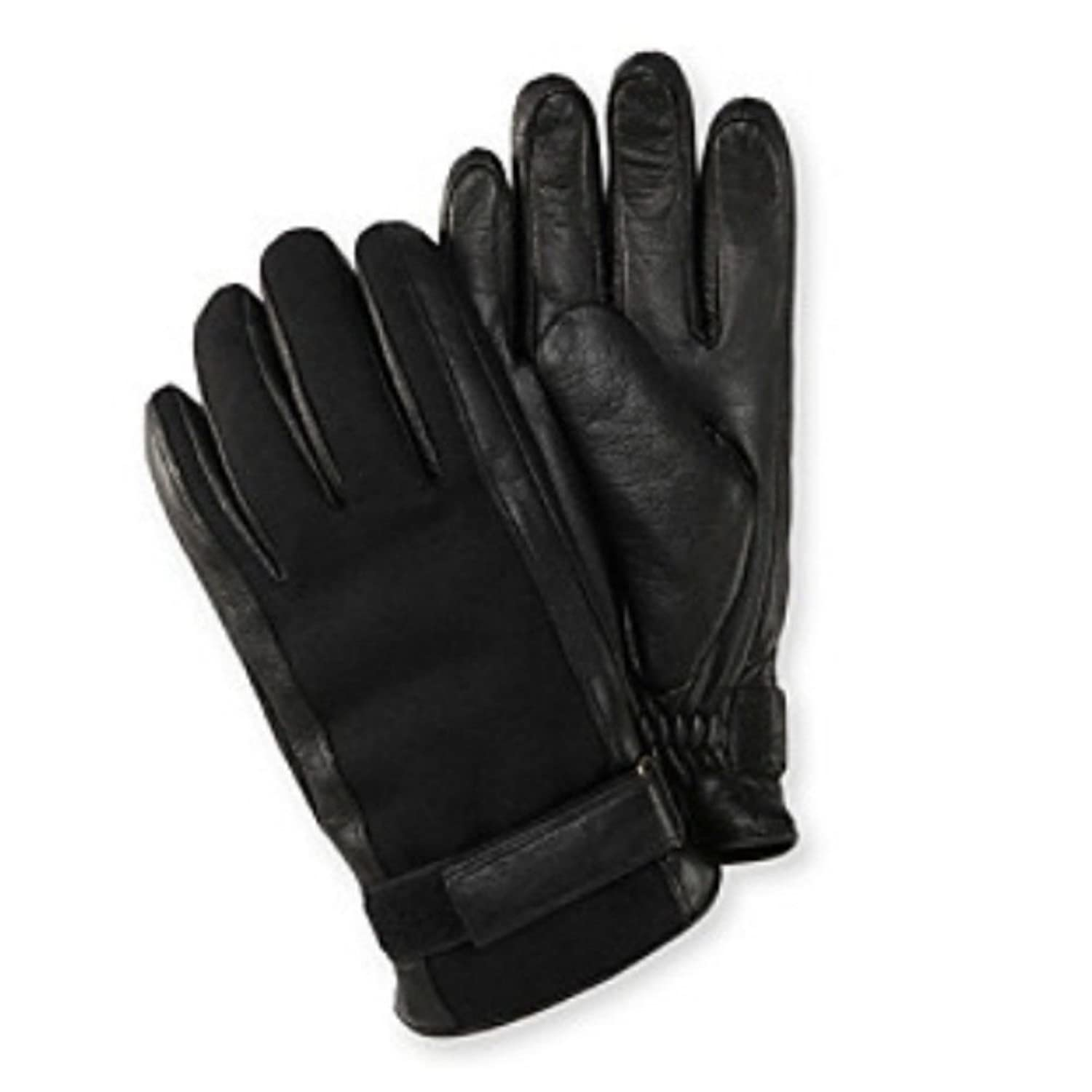 Mens gloves isotoner - Isotoner Mens Belted Black Leather Wool Gloves Thinsulate Lined At Amazon Men S Clothing Store Cold Weather Gloves