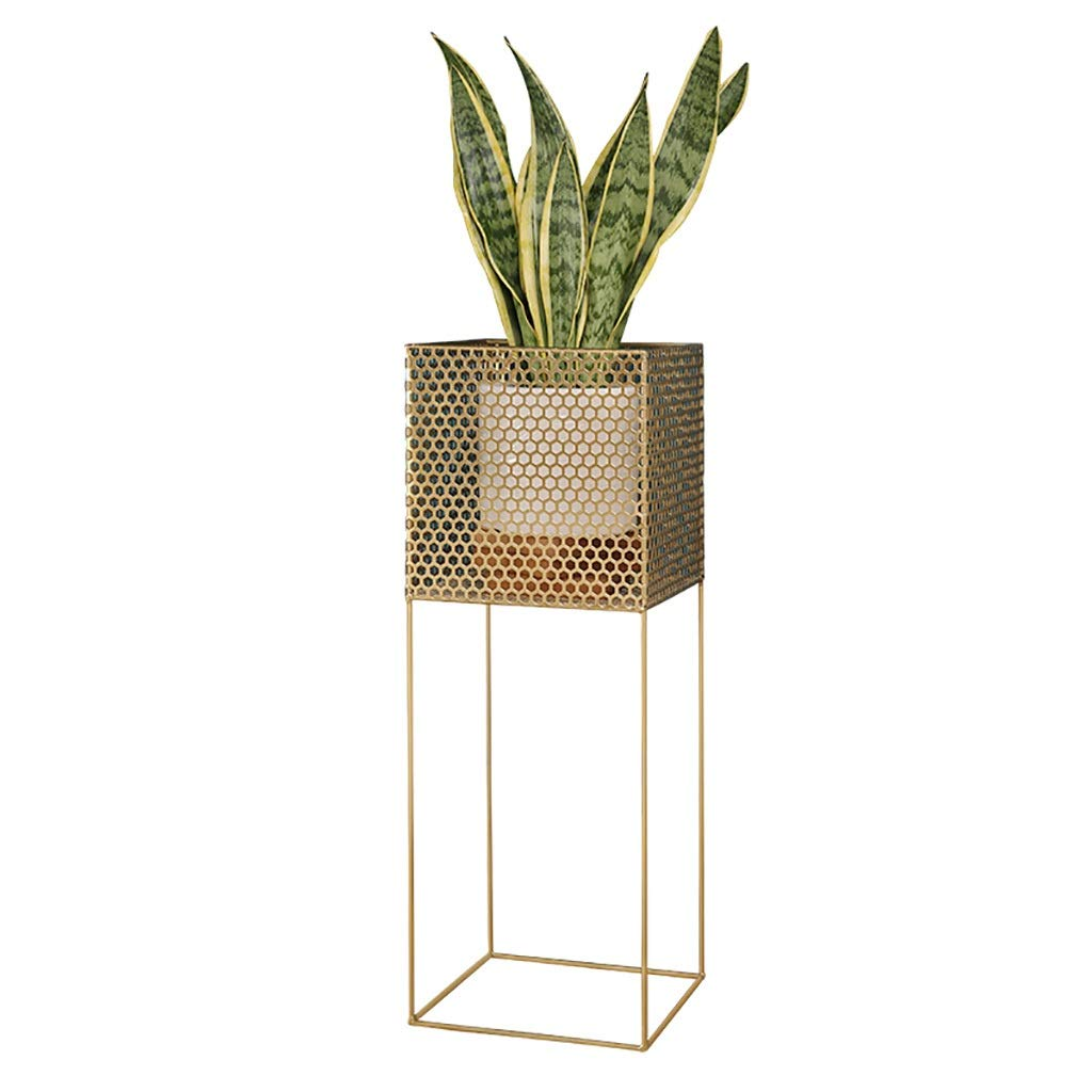 Plant Stand,Flower Stand for Living Room, Nordic Style Creative Floor Pot Rack, Gold/Black (Color : Gold)