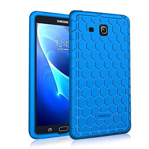 Fintie Silicone Case for Samsung Galaxy Tab A 7.0, [Honey Comb Series] Light Weight [Anti Slip] Shock Proof Cover [Kids Friendly] for Galaxy Tab A 7-inch Tablet 2016 Release (SM-T280/SM-T285), Blue (Poetic Samsung Tab 4 7)