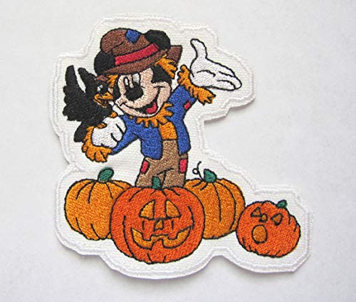 Mickey Mouse As The Crow Flies Disney Inspired Halloween Iron On Patch