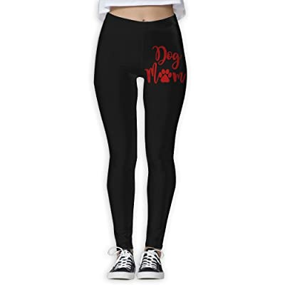 DDCYOGA Dog Mom Womens Stretch Boot Leg Yoga Pants Workout Yoga Bike Pants For Women
