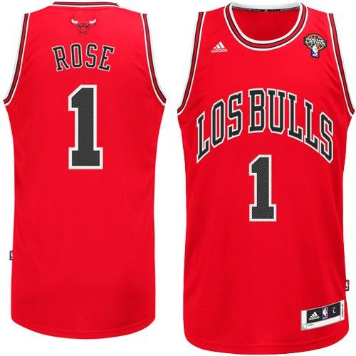 adidas Chicago Bulls Derrick Rose Youth Latin Nights Revolution 30 Swingman Jersey (Youth Small 8)