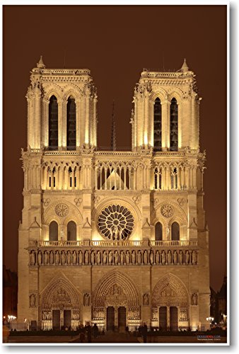 Notre Dame - Paris, France - NEW World Travel Poster