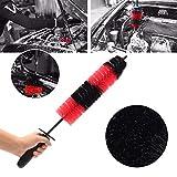 Mayitr Car Auto Brush Soft 17'' Car Truck Motor Engine Grille Wheel Wash Brush Tire Rim Cleaning Wash Tool