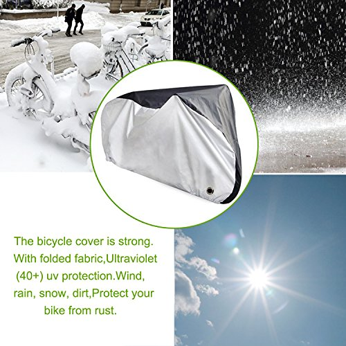 Yougai Bike Cover Outdoor Bicycle Cover Waterproof Dust Wind Proof with Lock Hole, Road Bike, Mountain Bike by Yougai (Image #2)