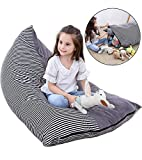 JUNSOAL Stuffed Animal Bean Bag / Stuffed Animal Storage / Stuffed Animal Storage Bean Bag Chair (Cover ONLY) with Soft Flannel - Extra Large