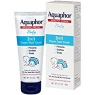 Aquaphor Baby Diaper Rash Cream 3.5 Ounce - Pediatrician Recommended Brand (Pack of 3)
