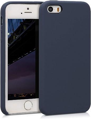 Kwmobile Hülle Kompatibel Mit Apple Iphone Se 1 Gen 2016 5 5s Handyhülle Gummiert Handy Case In Dunkelblau Matt Elektronik