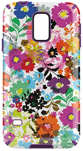 Speck Products Samsung Galaxy S5 CandyShell Inked Case  - Bold Blossoms White/Revolution Purple (Samsung S5 Otter Box Wallet Case)