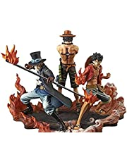 One Piece Brotherhood Luffy Ace Sabo 3 in 1 Action Figures Anime Figure Toy
