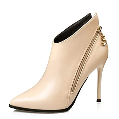 43180464f2b Amazon.com | Fashion High Heels Ankle Boots Woman Party Dress Shoes ...