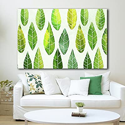 Repeated Green Leaves Pattern, Made With Love, Alluring Expertise