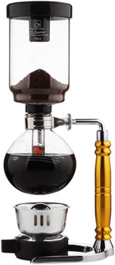Cafetera de cristal para el hogar, sifón clásico, café manual, 5 ...
