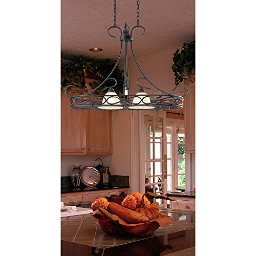 Pot Rack With Pendant Lights - 5