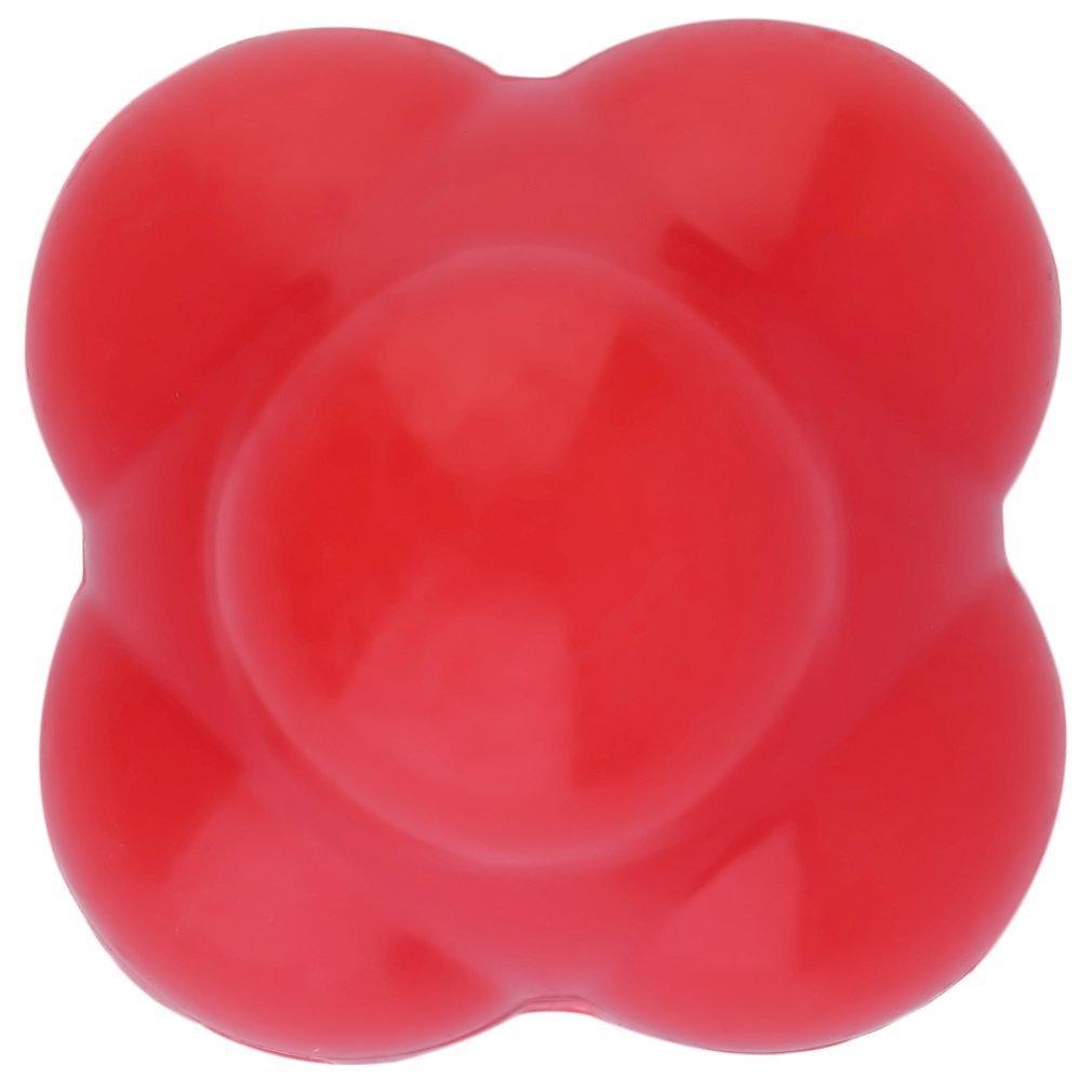 Yofafada Silicone Reaction Ball Agility Coordination Reflex Exercise Training Ball Red