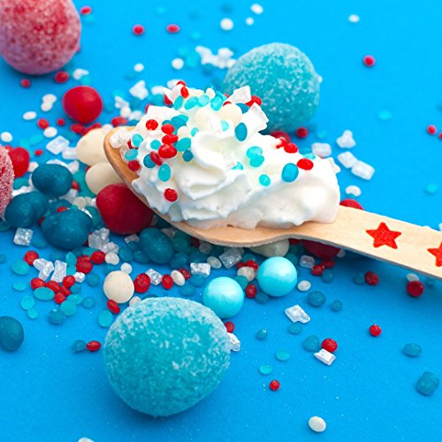 Patriotic Candy Sprinkles | Candyfetti | 8oz Jar | Red White and Blue | Edible Confetti | MADE IN THE USA! by Sweets Indeed (Image #5)