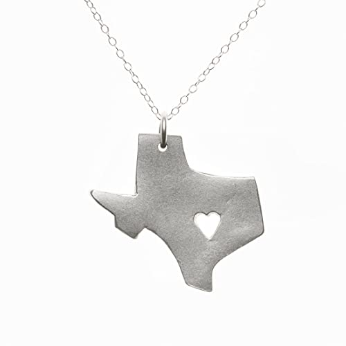 .com: sterling silver texas necklace: handmade