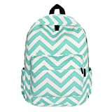 Fulltime(TM) Women Double-Shoulder Sweet Stripe Canvas Backpack School Bags