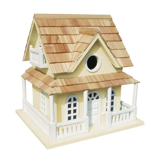 Cheap Home Bazaar Cape May Cottage Birdhouse, Yellow