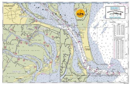 (South Carolina Winyah Bay - Waterway Fishing Chart (Laminated))