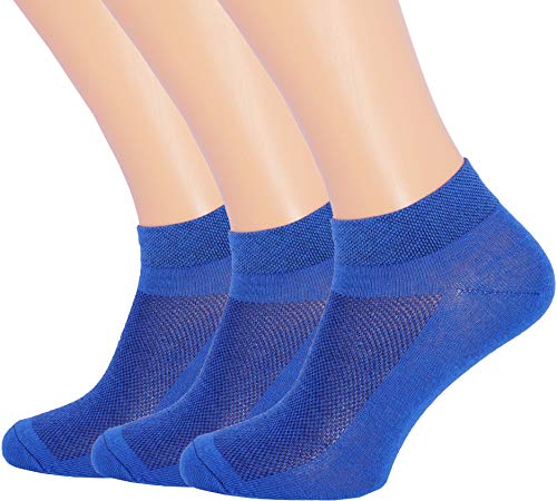 - 3 Pack Unisex Ultra Thin Breathable Dry Fit Low Cut Running Ankle Socks color Blue, Shoe Sizes 6-12 US/Socks Sizes 10-13