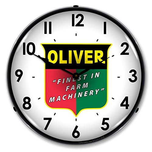 The Finest Website Inc. New Oliver Farm Machinery Retro Vintage Style Advertising L.E.D. Lighted Clock - Ships Free Next Business Day to Lower 48 States