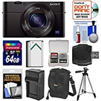 Sony Cyber-Shot DSC-RX100 III Wi-Fi Digital Camera with 64GB Card + Battery & Charger + Case + Tripod + Kit Overview Review Image