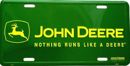 John Deere Nothing Runs Metal License Plate #2187