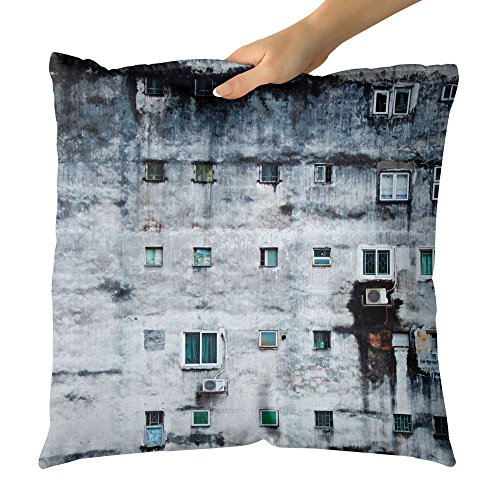 (Westlake Art - Window Urban - Decorative Throw Pillow Cushion - Picture Photography Artwork Home Decor Living Room - 16x16 Inch)
