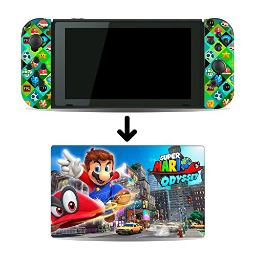 Super Mario Odyssey Game Skin for Nintendo Switch Console and Dock