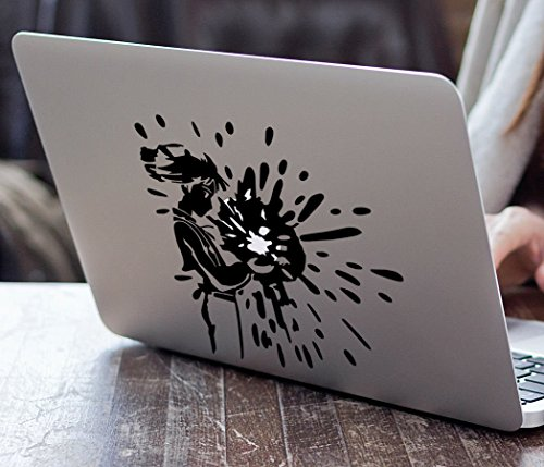 Howl and Calcifer Fire Demon Howl's Moving Castle for MacBook Laptop Vinyl Decal Sticker