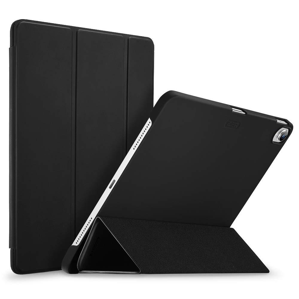 ESR iPad Pro 11 ケース 2018年秋モデルにフィット[Apple Pencilのペアリングとワイヤレス充電に非対応] iPad Pro 11 カバー 軽量 薄型 レザー 三つ折スタンド オートスリープ機能 全2色 2018年秋発売のiPad Pro 11インチ専用(マット・ブラック)