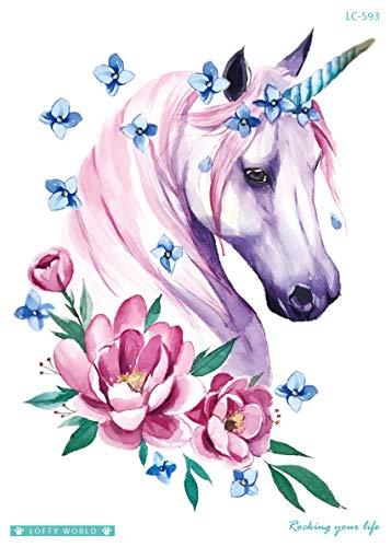 Tatuaje de unicornio para festivales, tatuajes de fiesta para ...